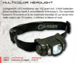 Coleman - Multicolor led headlight / hoofdlamp
