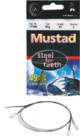 Mustad - steel for teeth onderlijn 49 strands 30 cm /12 kg