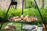 Cookking Grill: RVS rooster met tripod(gebogen) 200cm + haspel