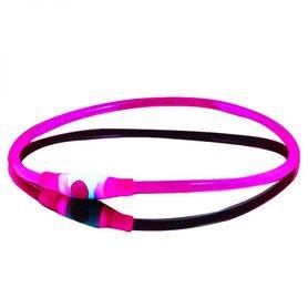Bee Seen Dog Led Band USB Pink