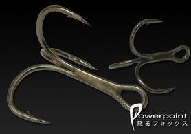 fox - fox powerpoint treble hooks size 8 nhk005