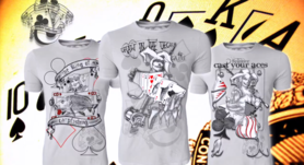 Hotspot design - T-shirt poker draw in the deck M/L/XL/XXL