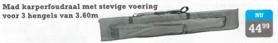MAD stevig karperfoudraal 360cm voor 3 hengels