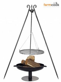Farmcook grill Viking with fire bowl 41 black steel grate 60/70/80 cm