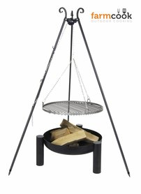 Farmcook grill Viking with fire bowl 38 black steel grate 60/70/80 cm