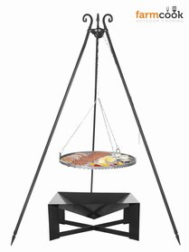 Farmcook grill Viking with fire bowl 34 black steel grate 60/70/80 cm