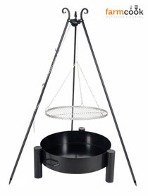 Farmcook grill Viking with fire bowl 32 stainless steel grate 60/70/80 cm