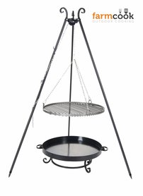 Farmcook grill Viking with fire bowl 32 black steel grate 60/70/80 cm