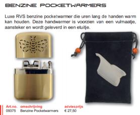 Albatros -benzine  handwarmer/pocketwarmer