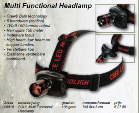 soul -Multifunctional headlamp 09915