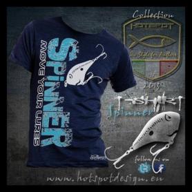 Hotspot design - T-shirt spinner blauw  M/L/XL/XXL