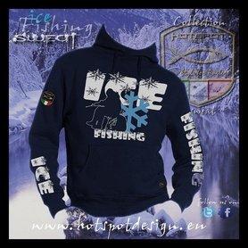Hotspot design -sweater ice fishing blauw F-ICE
