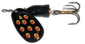 LFT Rattle Spinner (4) Black Red Dots