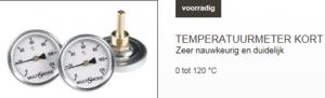 temperatuur meter kort