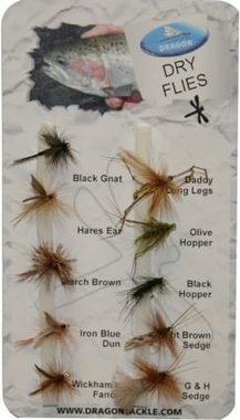 Dragon Std Fly Selection- Dry Flies (10)