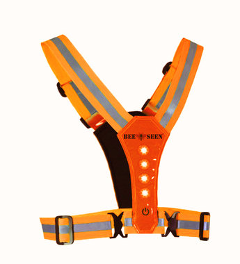 Bee Seen Led Harness USB Orange