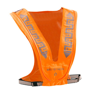 Bee Seen Led Vest USB Orange