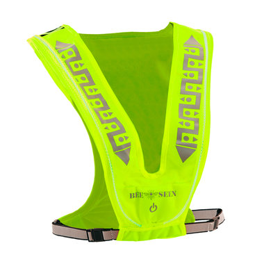 Bee Seen Led Vest USB Lime