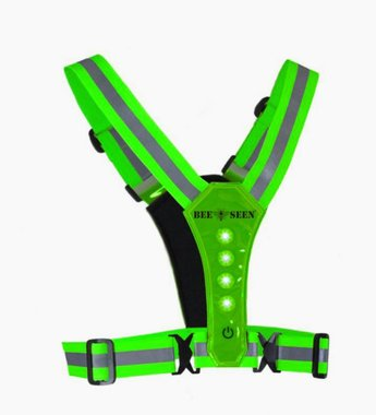 Bee Seen Led Harness USB Green