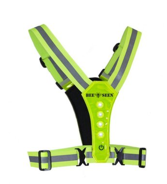 Bee Seen Led Harness USB Lime