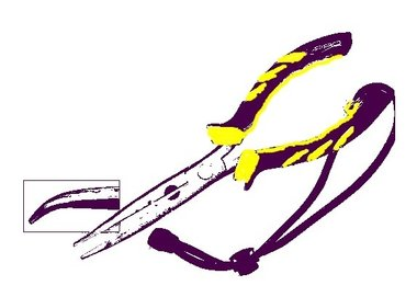 Spro - Bent long nose plier 28 cm