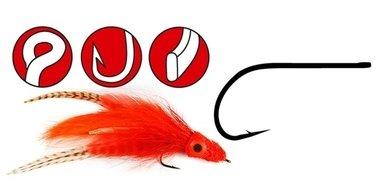 gamakatsu - haak f314 size 8 stream/popper vliegenhaak met oog ,