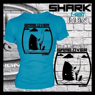 Hotspot design - T-shirt GAME OVER SHARK M/L/XL/XXL