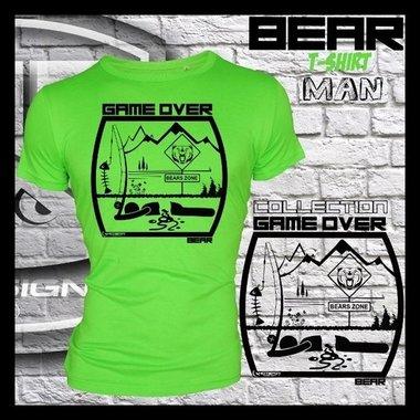 Hotspot design - T-shirt GAME OVER BEAR M/L/XL/XXL