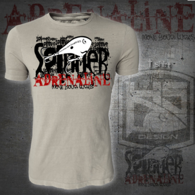 Hotspot design - T-shirt spiner adrenaline M/L/XL/XXL