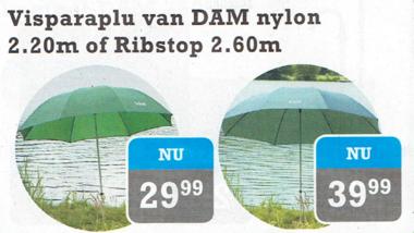 vis paraplu ribstop 2.60cm