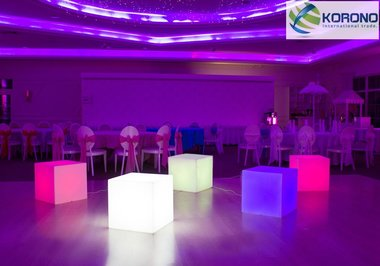 korono led lamp cube 50x50x50cm multi collor