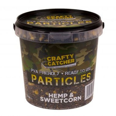crafty catcher hemp & sweetcorn particles 1,1 l