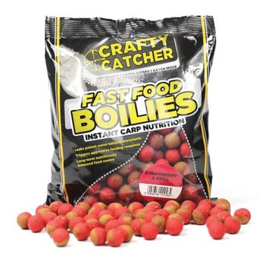 crafty catcher fast food boilies Strawberry & Krill 15mm 500g