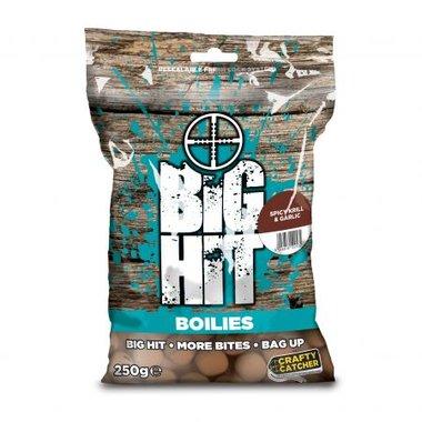 crafty catcher big hit boilies spicy krill & garlic 15mm 250g