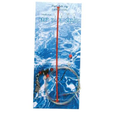 Deep Blue Flat Sea Rig 1-Arm 2-Haaks H8