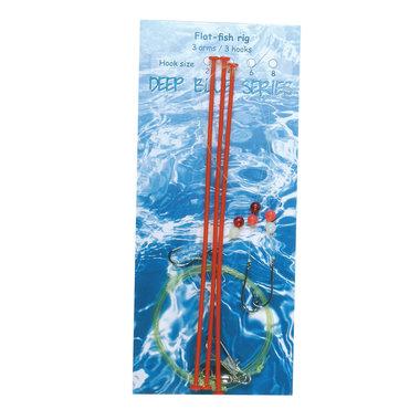 Deep Blue Flat Sea Rig 3-Arm 3-Haaks H4