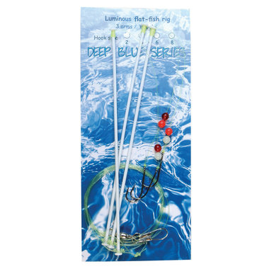 Deep Blue Flat Sea Rig 3-Arm Luminous 3-Haaks H8