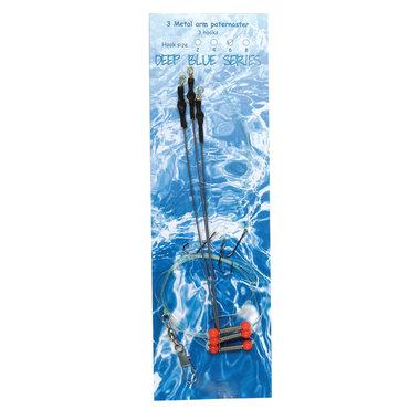 Deep Blue Flat Sea Rig 3-Arm Metaal 3-Haaks H4