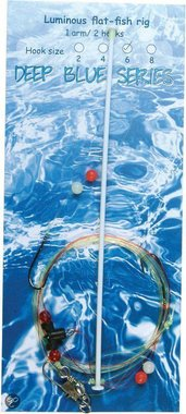 Deep Blue Flat Sea Rig 1-Arm luminous 2-Haaks H2