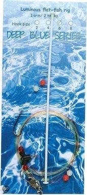 Deep Blue Flat Sea Rig 1-Arm luminous 2-Haaks H4
