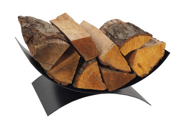 Magnus Firewood basket K14 black 48x28x17cm