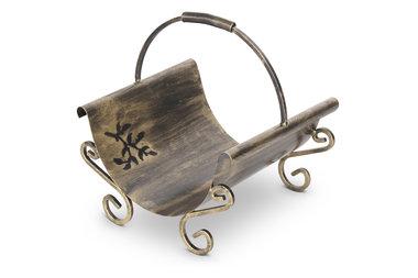 Magnus Firewood basket K12 gold 43x36x44cm