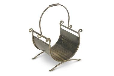 Magnus Firewood basket K13 gold 49x37x69cm