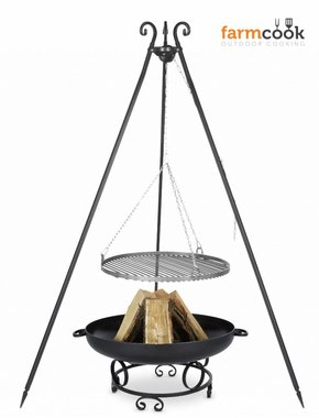 Farmcook grill Viking with fire bowl 43 black steel grate 60/70/80 cm