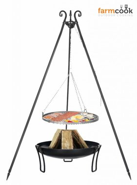 Farmcook grill Viking with fire bowl 39 black steel grate 60/70/80 cm