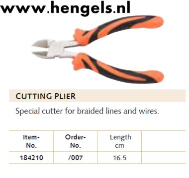 Balzer knip tang gebogen 16,5 cm
