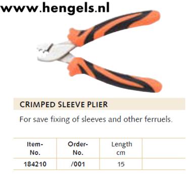Balzer Crimped sleeve plier 15cm