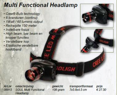 soul -Multifunctional headlamp 09915