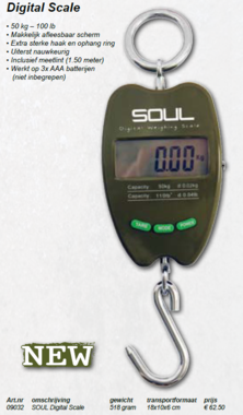 Soul -Digital scale 50 kg
