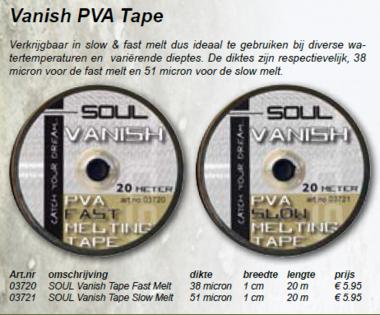 soul -PVA Tape fast melt 03720